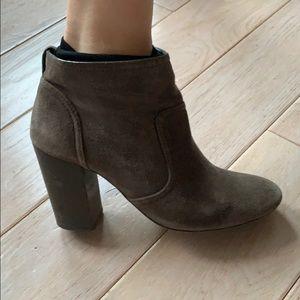 Tory Burch Grey Suedw Boots